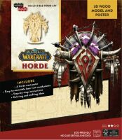 Конструктор из дерева 3D - World of Warcraft Horde Incredibuilds Wood Model